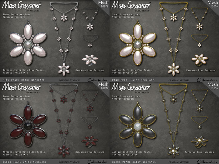 Necklace - Pearl Daisies - FATPACK