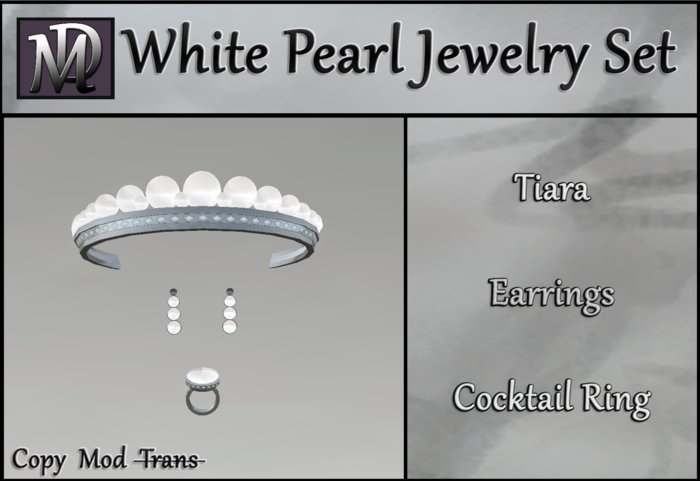 White Pearl Jewelry Set