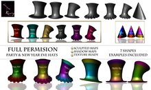 Ruxy Sculpted Full Permision Party Hat & New Year Eve