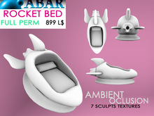 ABAR - TOY009 ROCKET BED /  BABY / CHILDREN - sculpt - AMBIENT OCLUSION  - Full Perm