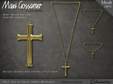 Necklace - Gold Cross
