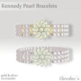 (Caroline's Jewelry) Kennedy White Pearl Bracelets