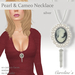 (Caroline's Jewelry) Pearls & Cameo Necklace in Silver