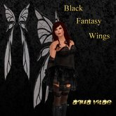 Black Fantasy Wings by Aqua Vitae