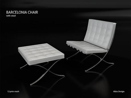 Barcelonia Chair White transfer