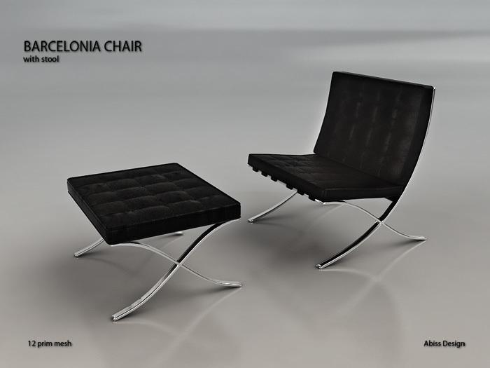 Barcelonia Chair Black transfer