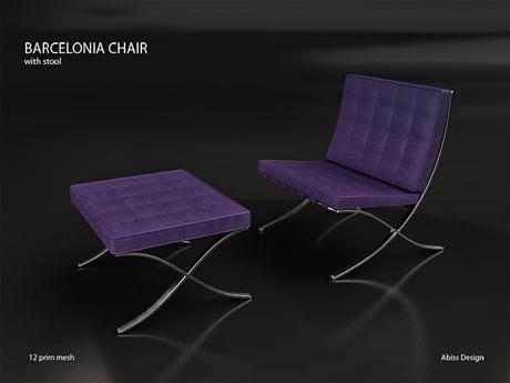 Barcelonia Chair Lilac transfer