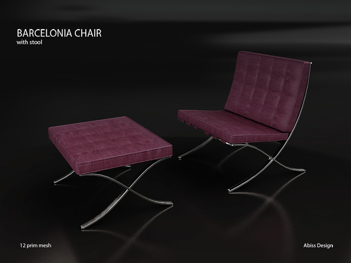 Barcelonia Chair Dark Purple transfer