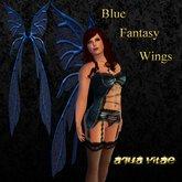 Blue Fantasy Wings by Aqua Vitae