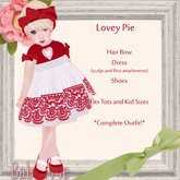 *Baby Pie* LoveyPie Girl's / Children's Complete Dress Outfit! Valentines Day/ Winter Ensemble!  !EXCLUSIVE PROMO PRICE!