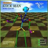 Avatar Building Tool - Rainbow Stick Man Avatar - Full Perms!