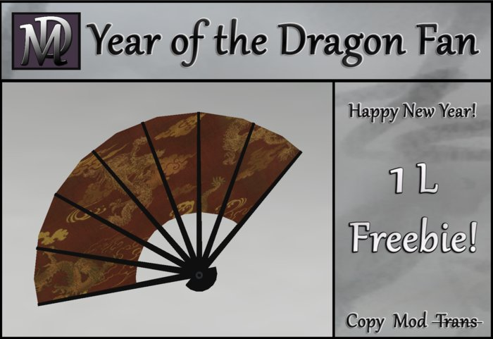 1L Freebie - Year of the Dragon Fan-Red