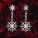 alba2 rossini - winter snow flake earrings