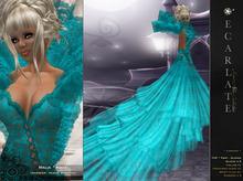 Malia - Aqua -  Dress Gown Formal - Robe