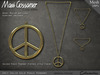Necklace - Peace Pendant Gold