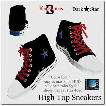 Unisex Sneakers Dark Star High Tops Colorable