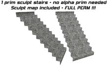 1 prim sculpted stairs FULL PERM map - sculpty - sculpt
