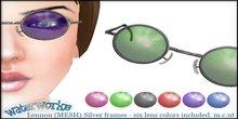 WaterWorks UV Lennon Sunglasses - Silver Frames