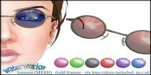 WaterWorks UV Lennon Sunglasses - Gold Frames