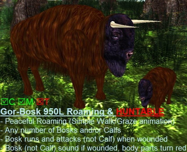 3D Animated Gor-BOSK Huntable