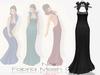 !Rebel Hope Designs - Fabria Mesh Gown Noir