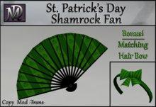 St. Patrick's Day Shamrock Fan