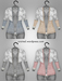 [croire] Spring Fever Cardigan (fatpack) (hand drawn jersey knit top with lace detailing) Hipster Vintage Boho Cute Girl