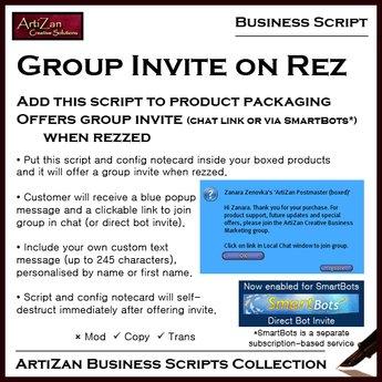 ArtiZan Business Script: Group Invite on Rez