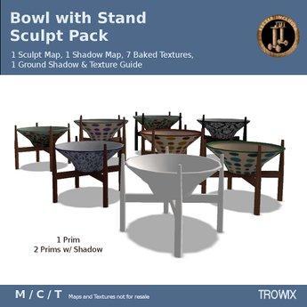 Trowix - Bowl Vase With Stand Sculpt Pack