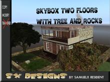 skybox woodlands  with rocks/ skybox con terrenos arbol rocas