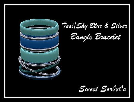 Sweet Sorbet's Teal/Sky Blue Bangle Bracelet