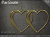 Mesh Earrings - Love Hearts - Gold
