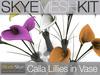 PROMO Skye MESH Kit - Calla Lilies in Vase : Full Perms