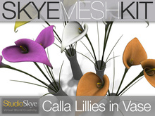 PROMO Skye MESH Kit - Calla Lilies in Vase : Full Perms