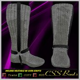 Chainmail  Wrap Male Boots :CSS BOOTS: Sale