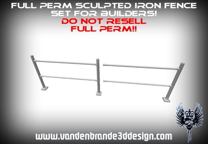 ~Full perm fence / railings set + maps for builders