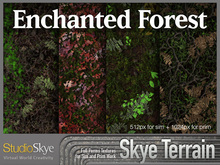 Skye Terrain Textures - Enchanted Forest 50 x 2 Full Perms Textures