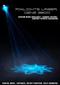 PIXLIGHTS FACTORY LASER GEN2 3800 (blue)