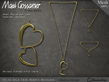 Necklace - Twin Hearts - Gold