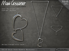 Necklace - Twin Hearts - Silver