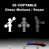 26 Copyable Cheerleading Motions / Poses / Animations