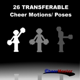 26 Transferable Cheerleading Motions / Poses / Animations