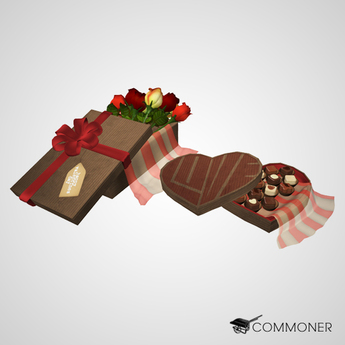 [Commoner] Valentines Day Fat Pack / Flowers and Candy