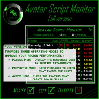 ABTech Avatar Script Monitor - Full Pack