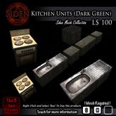 Kitchen Units (Dark Green)
