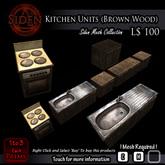 Kitchen Units (Brown Wood)