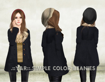 .::Y&R::. simple color beanies FAT PACK