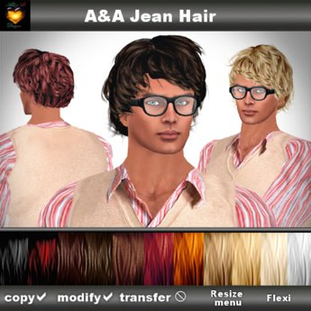 A&A Jean Hair 11 Colors Variety Pack. Modern conservative short wavy men's hairstyle.