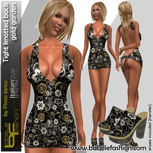 Babele Fashion Tight Knotted Back Gold Garden