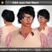 A&A Jean Hair Black (Color 1). Modern conservative short wavy men's hairstyle.